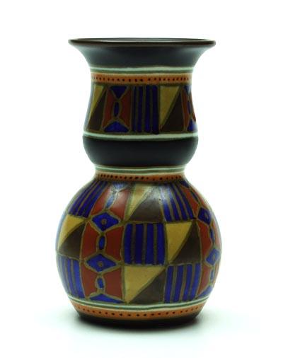 Botterweg auctions amsterdam aardewerk art deco vaas decor luka uitvoering zuid holland 1928 - Luka deco ontwerp ...