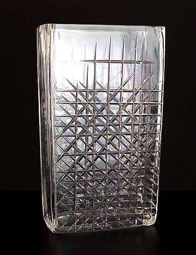 Botterweg Auctions Amsterdam Large Rectangular Clear Glass Vase