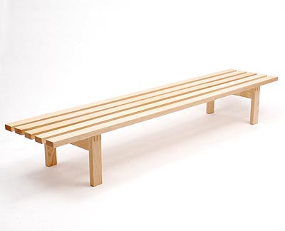 Design Bank Martin Visser.Botterweg Auctions Amsterdam Shelf Bench In White Ash Design