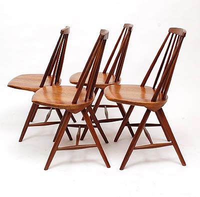 Design Stoelen Utrecht.Botterweg Auctions Amsterdam Teakwooden Chairs 4x Design