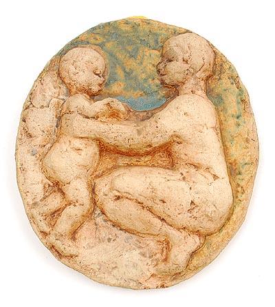 Botterweg auctions amsterdam aardewerk reli fplaquette met afbeelding van moeder met kind - Ontwerp kind ...
