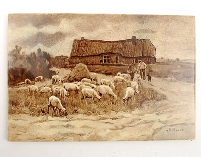 Tegels Den Haag : Botterweg auctions amsterdam u003e tile with image of sheep in