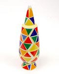 """Alessandro Mendini covered vase """"100% Make-up"""" (no.19), with decoration of Nicola De Maria (Italy), from the limited series of 100 vases per decor, for Alessi / made in Germany 1992"""